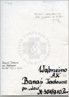 Banaś Tadeusz
