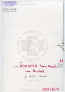 Adamska Maria Urszula