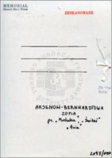 Aksenow-Berhardtowa Zofia