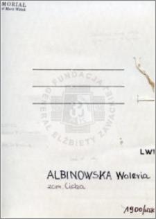 Albinowska Waleria