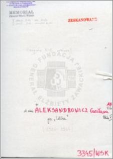Aleksandrowicz Czesława