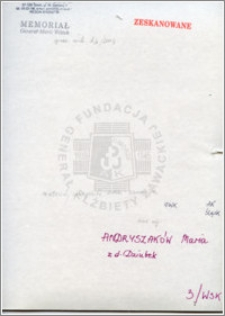 Andryszaków Maria