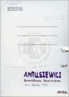 Antuszewicz Bronisława Kazimiera