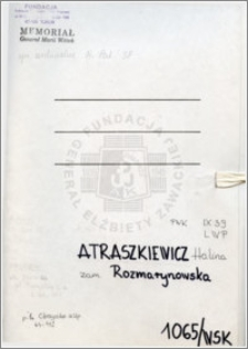 Atraszkiewicz Halina