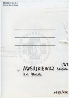 Awsiukiewicz Aniela