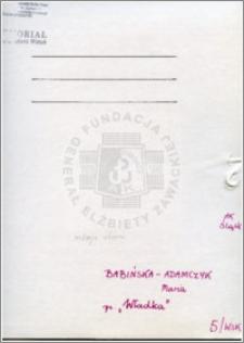 Babińska-Adamczyk Maria