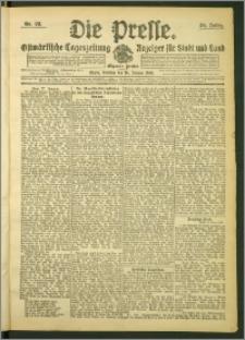 Die Presse 1908, Jg. 26, Nr. 22 Zweites Blatt, Drittes Blatt