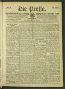 Die Presse 1908, Jg. 26, Nr. 55 Zweites Blatt