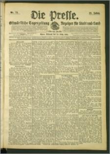Die Presse 1908, Jg. 26, Nr. 72 Zweites Blatt