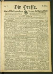 Die Presse 1908, Jg. 26, Nr. 79 Zweites Blatt