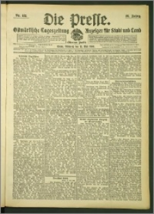 Die Presse 1908, Jg. 26, Nr. 112 Zweites Blatt, Drittes Blatt