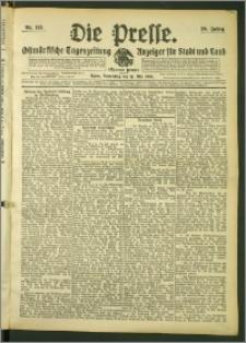 Die Presse 1908, Jg. 26, Nr. 113 Zweites Blatt