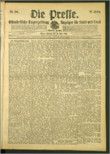 Die Presse 1908, Jg. 26, Nr. 144 Zweites Blatt, Drittes Blatt