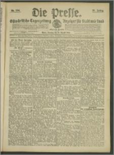 Die Presse 1908, Jg. 26, Nr. 204 Zweites Blatt, Drittes Blatt