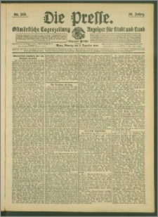 Die Presse 1908, Jg. 26, Nr. 288 Zweites Blatt, Drittes Blatt