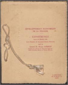 Développement économique de la Pologne : conférence - faite le 31 mars 1930 a la chambre de commerce franco-polonaise