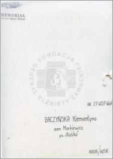 Baczyńska Klementyna