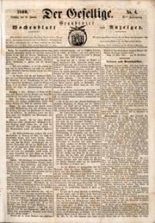 Der Gesellige : Graudenzer Wochenblatt und Anzeiger 1860.01.10 nr 4