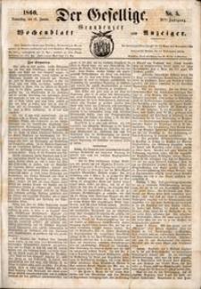 Der Gesellige : Graudenzer Wochenblatt und Anzeiger 1860.01.12 nr 5