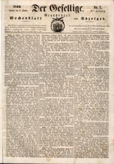 Der Gesellige : Graudenzer Wochenblatt und Anzeiger 1860.01.17 nr 7