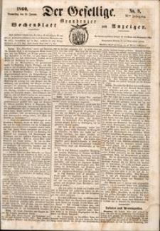 Der Gesellige : Graudenzer Wochenblatt und Anzeiger 1860.01.19 nr 8