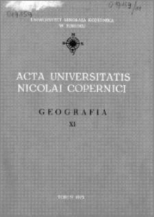 Acta Universitatis Nicolai Copernici. Nauki Matematyczno-Przyrodnicze. Geografia, z. 11 (35), 1975