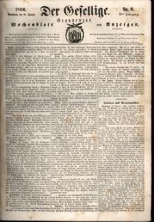 Der Gesellige : Graudenzer Wochenblatt und Anzeiger 1860.01.21 nr 9