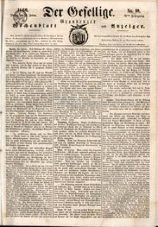 Der Gesellige : Graudenzer Wochenblatt und Anzeiger 1860.01.24 nr 10