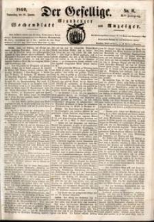 Der Gesellige : Graudenzer Wochenblatt und Anzeiger 1860.01.26 nr 11