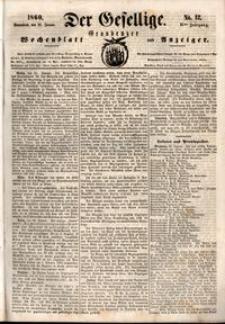 Der Gesellige : Graudenzer Wochenblatt und Anzeiger 1860.01.28 nr 12