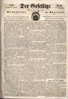 Der Gesellige : Graudenzer Wochenblatt und Anzeiger 1860.01.31 nr 13