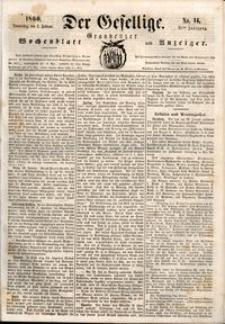 Der Gesellige : Graudenzer Wochenblatt und Anzeiger 1860.02.02 nr 14