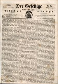 Der Gesellige : Graudenzer Wochenblatt und Anzeiger 1860.02.04 nr 15
