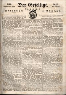 Der Gesellige : Graudenzer Wochenblatt und Anzeiger 1860.02.09 nr 17