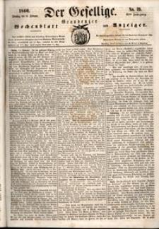 Der Gesellige : Graudenzer Wochenblatt und Anzeiger 1860.02.14 nr 19
