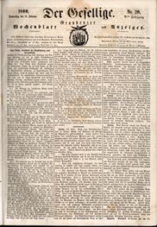 Der Gesellige : Graudenzer Wochenblatt und Anzeiger 1860.02.16 nr 20