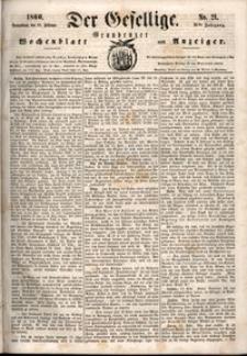 Der Gesellige : Graudenzer Wochenblatt und Anzeiger 1860.02.18 nr 21