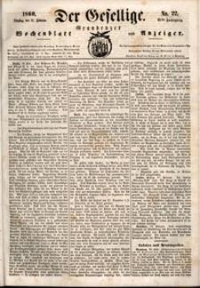 Der Gesellige : Graudenzer Wochenblatt und Anzeiger 1860.02.21 nr 22