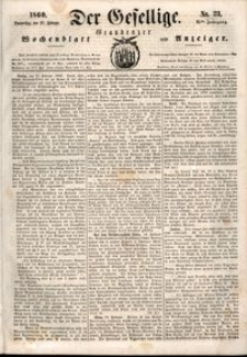 Der Gesellige : Graudenzer Wochenblatt und Anzeiger 1860.02.23 nr 23