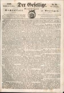 Der Gesellige : Graudenzer Wochenblatt und Anzeiger 1860.02.25 nr 24