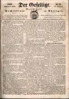 Der Gesellige : Graudenzer Wochenblatt und Anzeiger 1860.02.28 nr 25