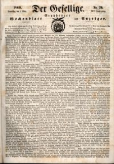 Der Gesellige : Graudenzer Wochenblatt und Anzeiger 1860.03.01 nr 26