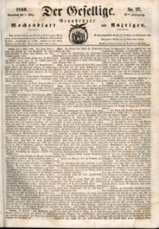 Der Gesellige : Graudenzer Wochenblatt und Anzeiger 1860.03.03 nr 27