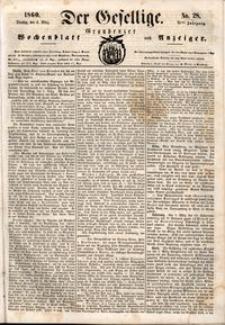 Der Gesellige : Graudenzer Wochenblatt und Anzeiger 1860.03.06 nr 28