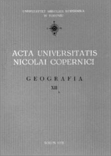 Acta Universitatis Nicolai Copernici. Nauki Matematyczno-Przyrodnicze. Geografia, z. 12 (41), 1976