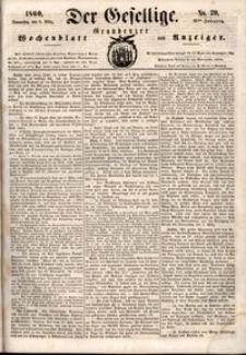 Der Gesellige : Graudenzer Wochenblatt und Anzeiger 1860.03.08 nr 29