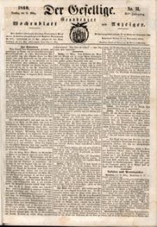 Der Gesellige : Graudenzer Wochenblatt und Anzeiger 1860.03.13 nr 31