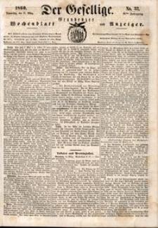 Der Gesellige : Graudenzer Wochenblatt und Anzeiger 1860.03.15 nr 32
