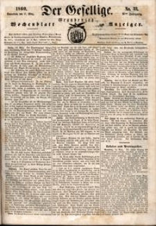Der Gesellige : Graudenzer Wochenblatt und Anzeiger 1860.03.17 nr 33