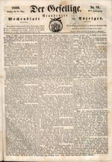 Der Gesellige : Graudenzer Wochenblatt und Anzeiger 1860.03.20 nr 34